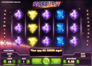 starburst är ett känt spel som alla spelar